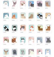 LOT 30PCS Postcard Cats Illustration Kitty Cards Set Bulk #37