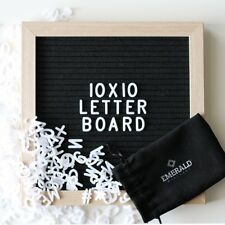 BRAND NEW!Letter Board Felt Black Signs Changeable Message Removable Letters