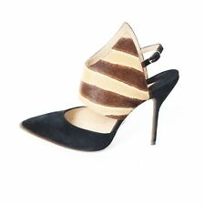 Paul Andrew NEW Black Slingback Pumps with Ponyhair - Size 38.5