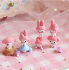 Kawaii Bowknot My Melody Kitty Figure Doll Toy Decor whole set Christmas Gift