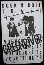 GREEN RIVER Vogue 1986 CONCERT POSTER & SETLIST Pearl Jam MUDHONEY Sub Pop