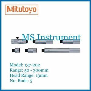 Mitutoyo 137-202 Metric 50-300mm 0.01mm Tubular Inside Micrometer