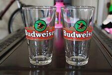 Pair of Budweiser Shaker pint glasses