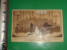 ZU733 Vintage Victorian Trade Card Ad Decker Brothers Pianos New York
