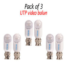 PACK of 3 PAIRS UTP Quick Fit Video Balun Single Channel Passive CCTV CAMERA