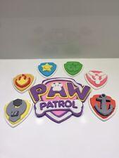 Paw Patrol Logo 2D Cake Topper Fondant, Gum Paste, Icing Sugar For Birthday Cake