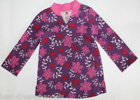 TEA COLLECTION Purple Floral Kimono Style Tunic Top Girl Size 4