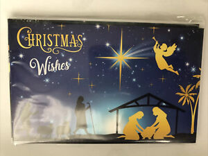 Pack Of 10 Religious Christian Christmas Cards With Envelope Free Postage