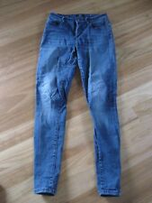 LADIES/ GIRL'S CUTE BLUE DENIM SKINNY JEANS BY JAG THE TWIGGY MID RISE - SIZE 26