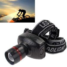 NEW 500 LM LED Headlamp Cycling 3W Fishing 3-Mode Zoomable Outdoor Headlight%AN