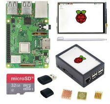 Raspberry Pi 3 modèle B+3.5 pouces écran tactile LCD+boîtier ABS+ 32GB cartes