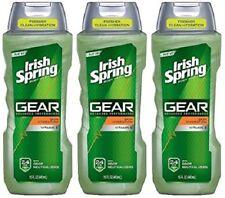 Lot 3x Irish Spring Gear Body Wash, Hydrating, 15 Fl. Ounce - Free Ship