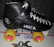 Labeda Roller Skates Speed Derby Men's 7 Women's 8 Black Leather Excellent