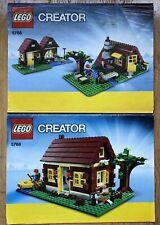 Lego Creator 3 in 1 Set 5766 Log Cabin Instruction Manuals