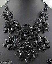 gorgeous Statement crystal chunky chain charm choker collar necklace pendant 911