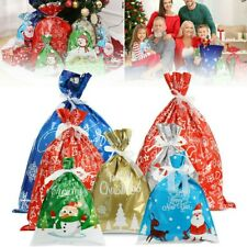 Christmas Candy Packaging Ribbons Bag Xmas Supplies Wrapping Pouch Gift Bags