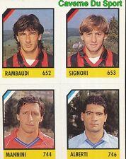 059 RAMBAUDI SIGNORI MANNINI ALBERTI ITALIA CARD CARTA CALCIO QUIZ VALLARDI 1991