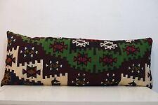 16'' x 40'' Long Kilim Pillow Bedding Pillow Cover Handmade Vintage Lumbar Art