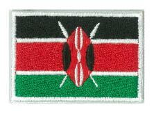 Écusson patche thermocollant badge drapeau KENYA petit 45 x 30 mm brodé