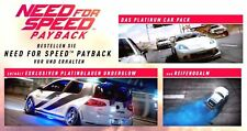 PLATINUM Car Pack + BLUE underglow-De Need for Speed PAYBACK XBOX ONE DLC codice