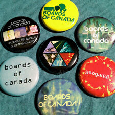 """7 Boards Of Canada 1"""" Pinback Buttons (Electronic Aphex Twin Autechre Brian Eno)"""