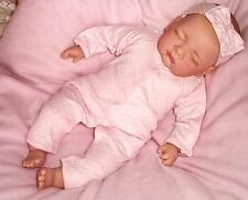 "Adorable Sleeping Reborn Baby Girl Doll Child Friendly 18 "" + Magnetic Dummy CE"