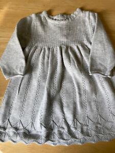 Baby Girls Grey Dress Age 0-3 Months