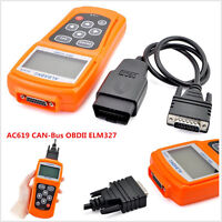 AC619 Car Engine Fault Code Scanner Reader Diagnostic Reset Tool OBD 2 CAN BUS