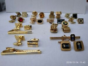 lot of 12 Vintage and Cufflinks and Tie clips