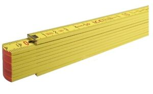 Folding Wooden Measuring Ruler With Metal Tips & Joints 1 Meter 2 Meters Length