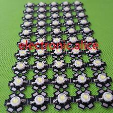 100pcs New 3W High Power cold white 10000K-15000K LED+20mm star pcb