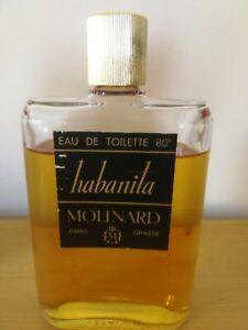 Rare flacon d'eau de toilette vintage Habanita de Molinard