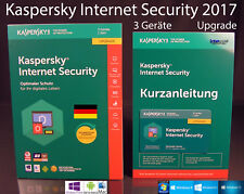 KASPERSKY Internet Security 2018 AGGIORNAMENTO BOX 3 dispositivi (PC/Mac/Android) OVP NUOVO