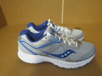 WOMENS SAUCONY GRID COHESION 11 GRAY BLUE WHITE RUNNING SHOES SIZE 8M A692