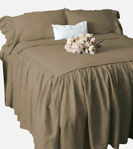 """Dust Ruffle Bed Skirt/Bed Cover 25"""" drop 500 TC Egyptian Cotton ALL SIZE & COLOR"""