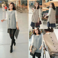 Women's Knitted Sweater Vest Casual Pullover Sleeveless Tank Top Jumper Outwear
