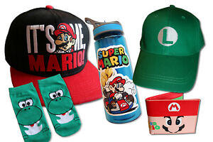 MARIO Bros. Kids Wallets, Bottles and HATS **NEW** Oz Seller FAST POSTAGE
