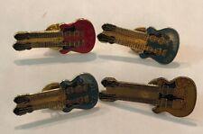 Van Halen Zz Top Yes Golden 4 Vintage Rock'N'Roll Double Neck Guitar Pins