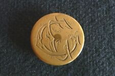 Bouton cuivre jaune monogrammé  18 Grs  Réf 02/ C/ 225