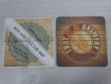 Beer Pub COASTER *~* THAT Brewery ~ Pine, ARIZONA ~ Riddle: Abe Odd Hull Lub Ear