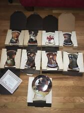 Lot Of 9 Norman Rockwell Plates , With Original Boxes And Certificate Of Authent
