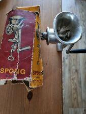 More details for vintage spong 25 national meat mincer kitchen meat grinder & table top clamp