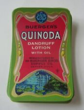 Wholesale Lot of 50 Old Vintage - Buerger's QUINODA Dandruff Lotion - LABELS