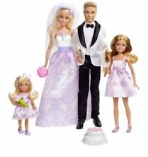 Barbie And Ken Doll Wedding Gift Set Figures Stacie Chelsea Dolls Accessories