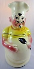 """Vintage American Bisque French Chef Cookie Jar MidCentury 11.5"""" Tall"""