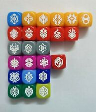 More details for cardfight vanguard! 24x clan dice collection d6 - 1 of each - mint condition
