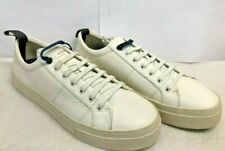 Ted Baker EPHRAN Leather Plimsoll Trainers White UK 8