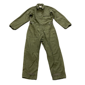 Army Green Military Cotton Coveralls 8405-00-131-6509 L