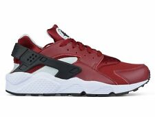 Nike Air Huarache Run Low Trainer Sz 10.5 Team Red Burgundy White QS 318429-603