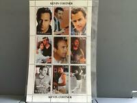 Tuva Kevin Costner mint never hinged   stamps  sheet R25336